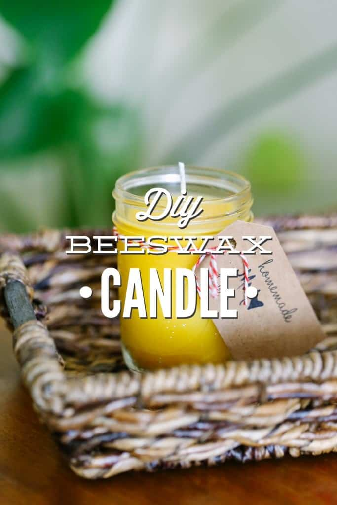 Upcycle your old glass or metal containers for these DIY beeswax candles. #candlemaking #candlerecipe #essentialoils #essentialoilrecipes #soycandles #diygifts
