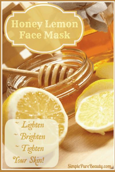 Lemon Honey Face Mask to Calm Skin, Tone and Lighten