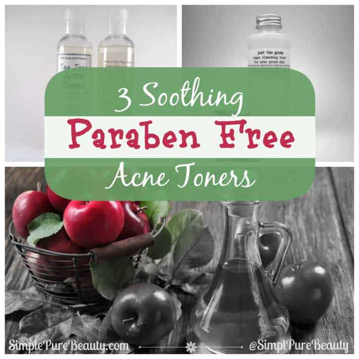 3 Soothing Paraben Free Acne Toners for Those Pesky Skin Breakouts | http://simplepurebeauty.com/1499/