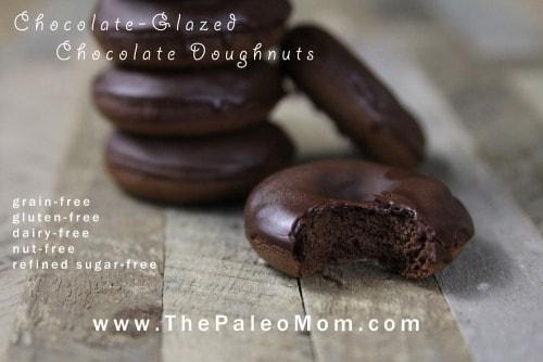 Chocolate-Glazed Chocolate Doughnuts from The Paleo Mom