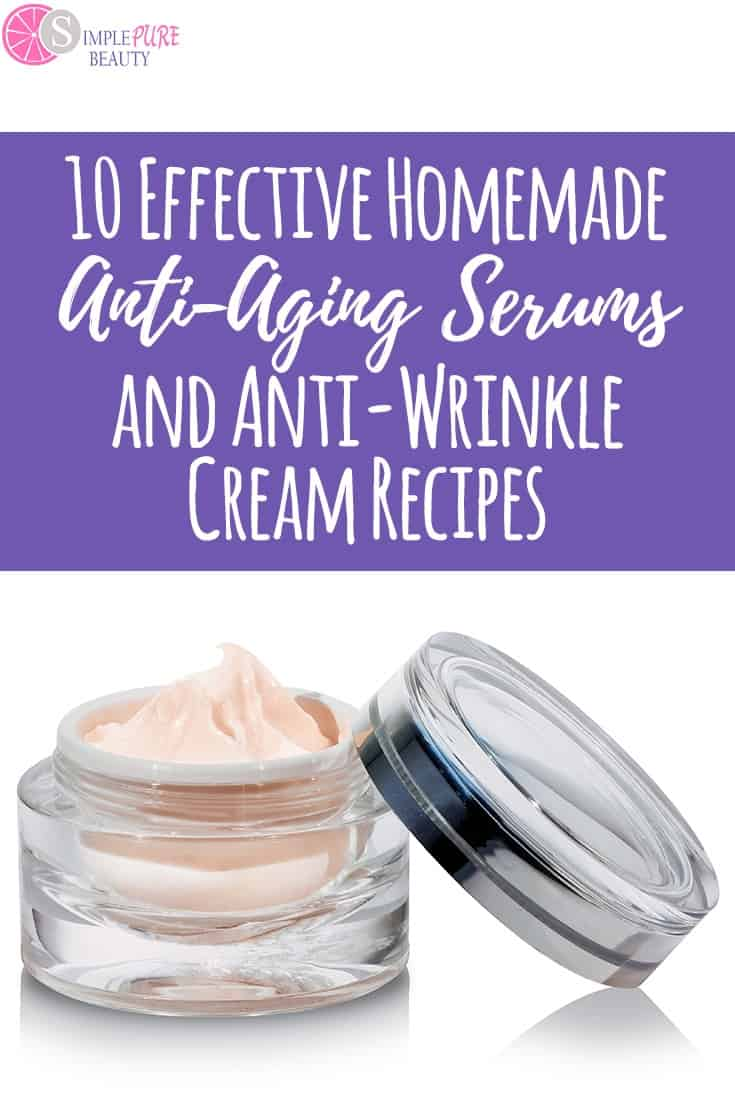 You can whip up a DIY Wrinkle Cream and DIY Eye Cream in a jiffy. Let's face it, we're all getting older. But that doesn't mean we have to break the bank buying expensive anti-aging cream and wrinkle treatments. #diy #antiaging #antiwrinkle #homemade #skincare #essentialoils