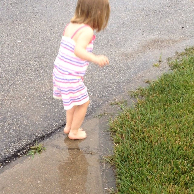 Jumping in some puddles! #rainyday