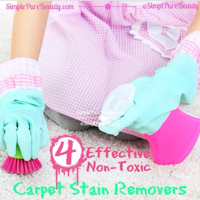 New post on the blog: simplepurebeauty.com/1756 4 Effective, Non-Toxic Carpet Stain Removers  #greencleaning #carpet #nontoxic
