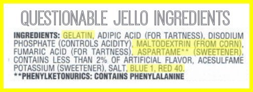Jello Ingredients