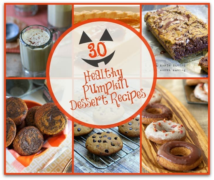 These 30 Pumpkin Dessert Recipes will be sure to please. Look no further for healthy pumpkin muffins, pumpkin bread, pumpkin pie, pumpkin cookies and more! #pumpkin #pumpkinrecipes #healthyrecipes #healthyfood #organic #fallrecipes