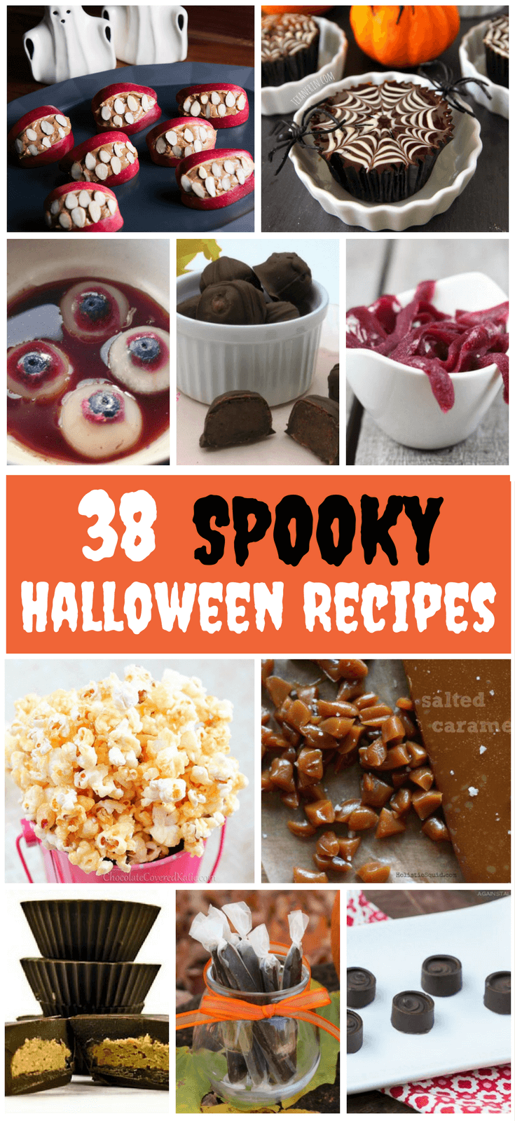 Looking for Spooky Halloween Treats? These Yummy Homemade Halloween Treats are sure to be a hit! From gooey gelatin eyeballs to monster teeth, these creepy treats are sure to be a hit