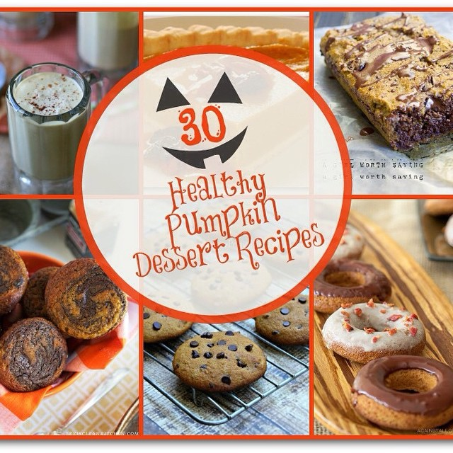 30 Healthy Pumpkin Recipes new post on the blog today! Link in profile.  #Pumpkin cake, cookies, donuts, pies... Oh my!