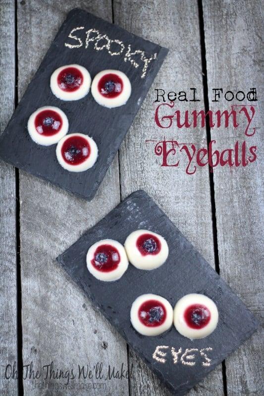 Real food gummy eyeballs - Healthy Halloween!
