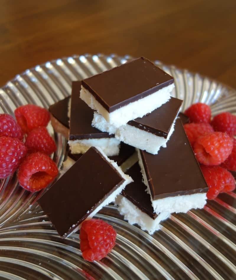 Dark Chocolate Coconut Bars (gluten, grain, dairy free, paleo)