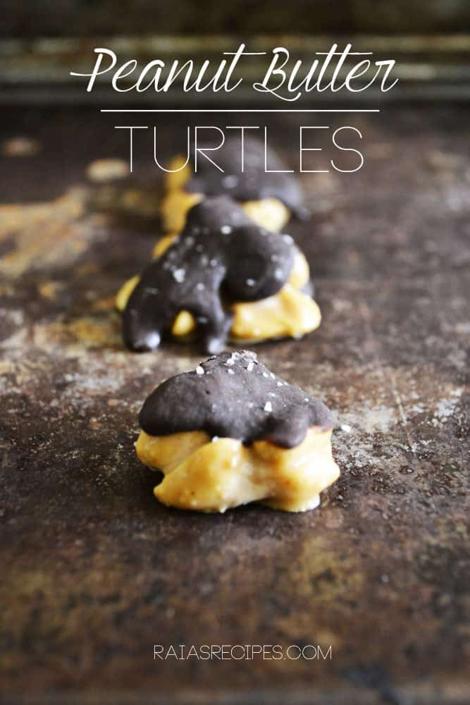 Peanut Butter Turtles  grain, gluten, egg, dairy, and refined sugar-free   RaiasRecipes.com