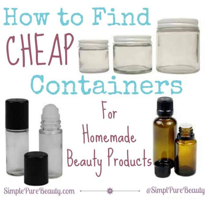 How To Find Cheap Containers For Homemade Beauty Products