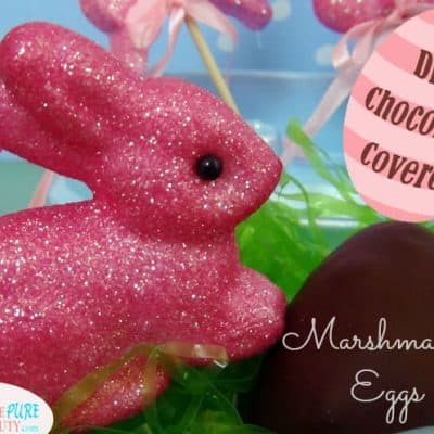 A Healthier Chocolate Covered Marshmallow Egg (Dairy Free, Gluten Free)