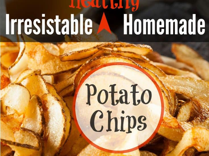 Irresistible Healthy Homemade Potato Chips - You know you want some! | SimplePureBeauty.com