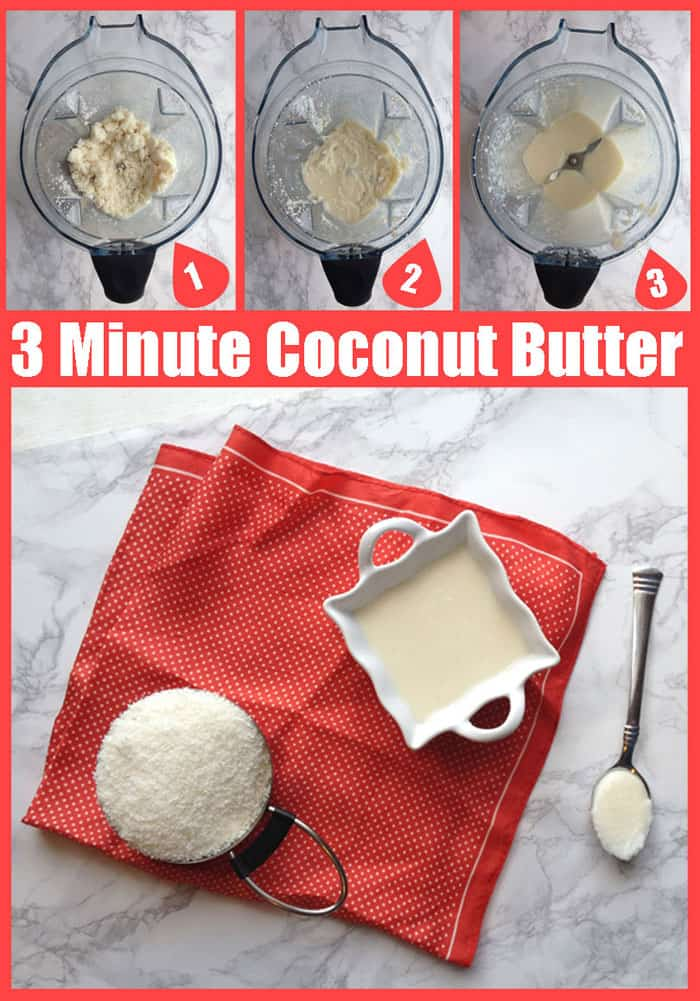 3 Minute Coconut Butter Recipe | SimplePureBeauty.com