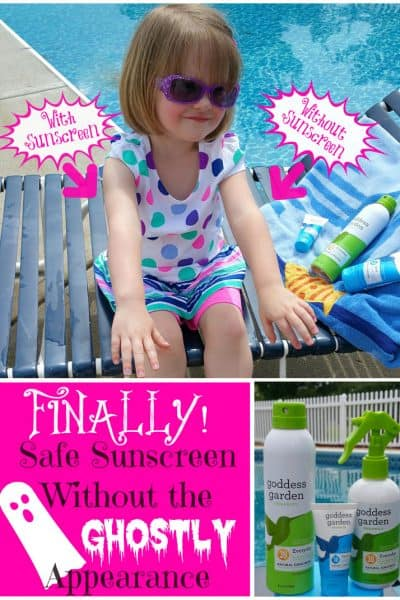 Finally! Safe Sunscreen Without The Ghostly Appearance: Goddess Garden Organics Sunscreen Review and Giveaway