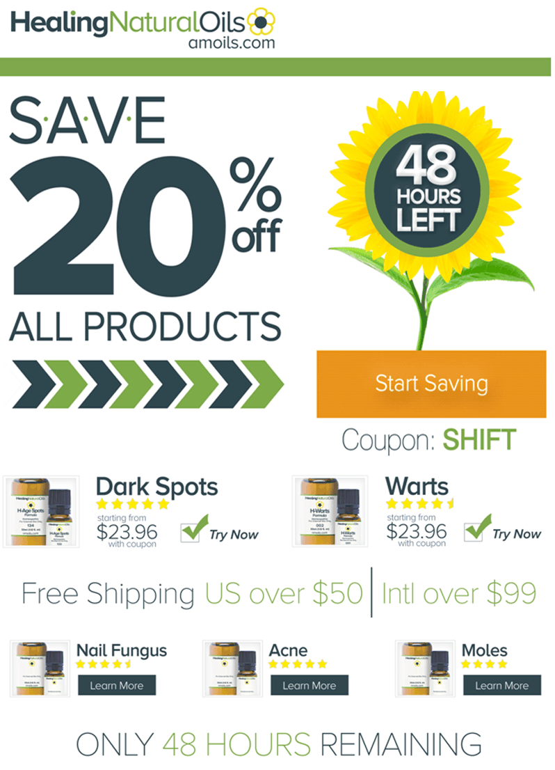 Save 20% on All Products at Healing Natural Oils (48 Hours Only)