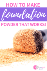 homemade powder foundation and makeup brush