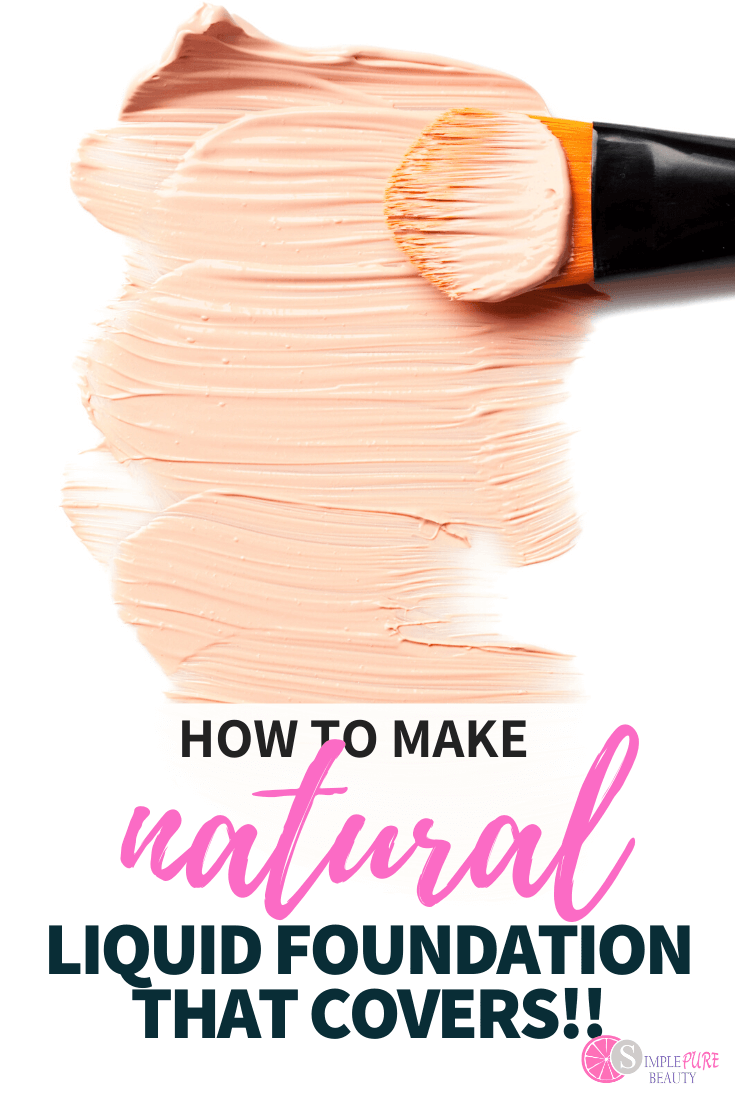 homemade liquid foundation and makeup brush