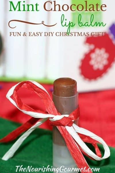 Mint Chocolate Lip Balm: A Fun and Easy DIY Christmas Gift Idea!