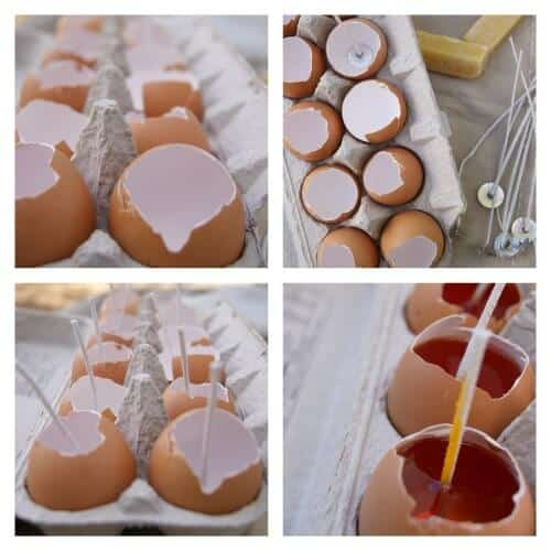 Easy Citronella Eggshell Candles   SimplePureBeauty.com