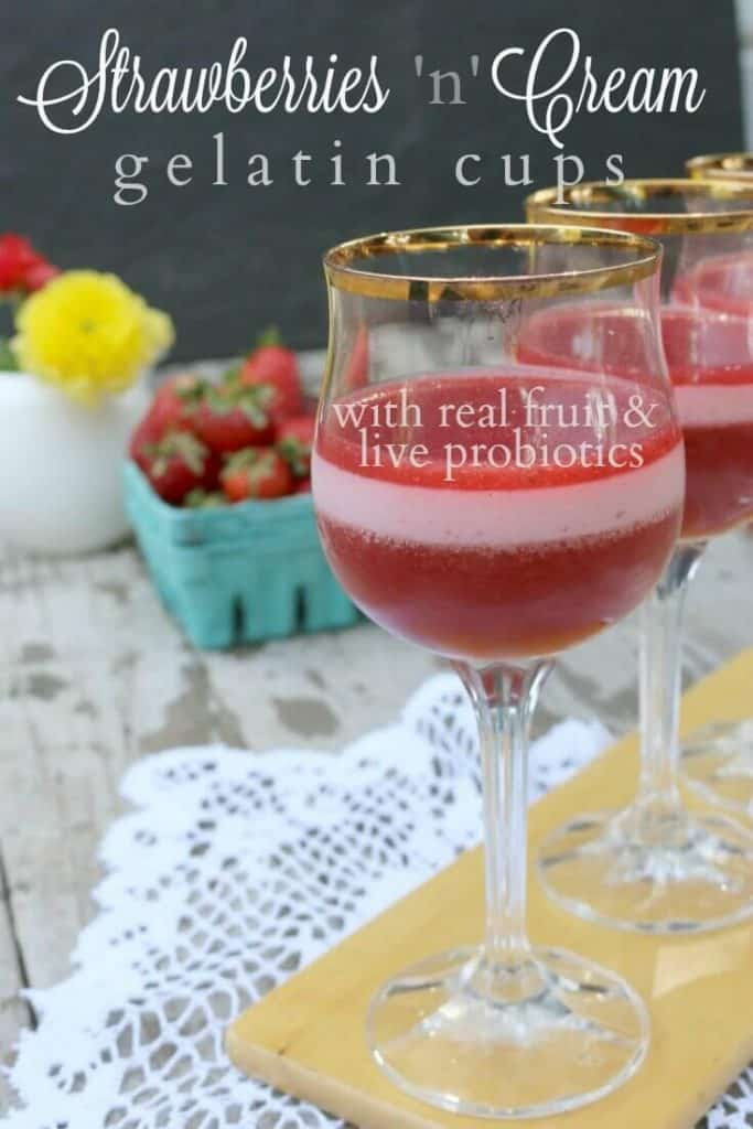 Oh and how creamy and luscious these homemade strawberry jello cups are! SimplePureBeauty.com