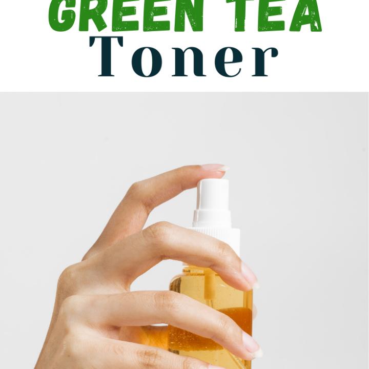 bottle of DIY green tea toner