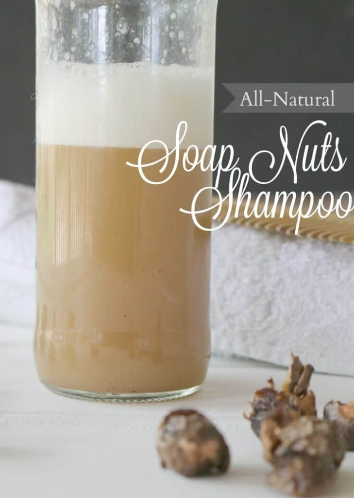 All Natural Soap Nuts Shampoo Recipe - ditch the commercial stuff full of parabens and sulfites and make this quick recipe for your locks.
