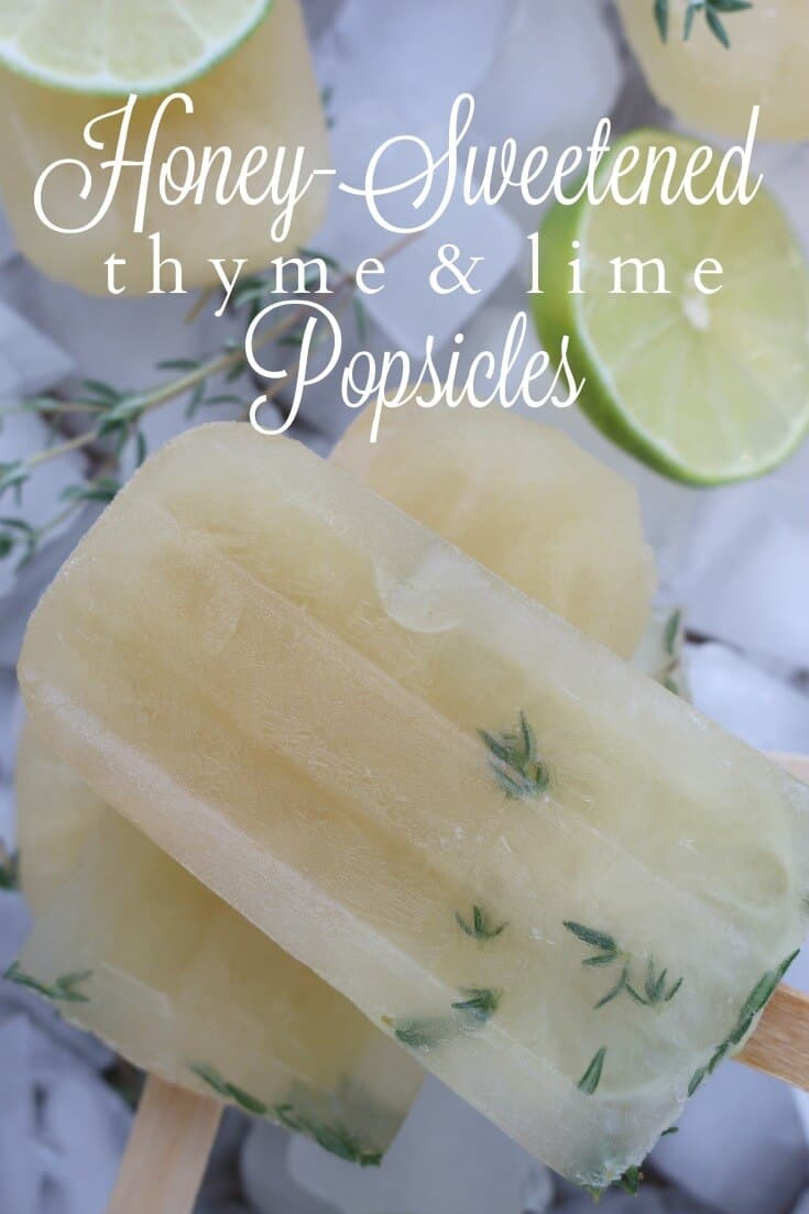 These homemade popsicles are a refreshing treat that creates the perfect blend of thyme and lime together with no refined sugar. #popsicles #homemade #healthyrecipes #dessert #healthy