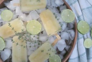 Honey-Sweetened Thyme and Lime Popsicles