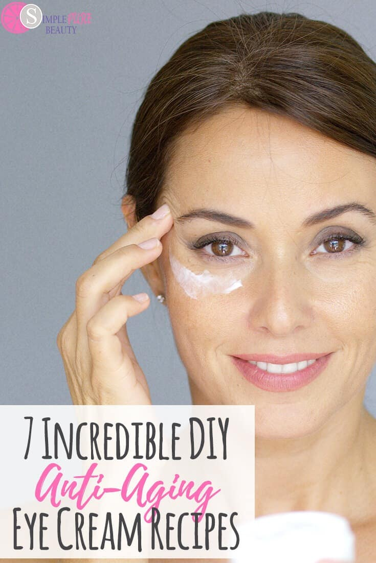 You don't have to spend an arm and a leg on Anti-Aging Eye Cream Products. It is so simple and affordable to make your own DIY Anti-Aging Eye Cream Recipes! You have to try these recipes, they are awesome! #eyecream #antiaging #DIYrecipes #diyskincare