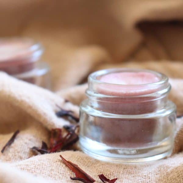 DIY Tinted Lip Balm with Hibiscus