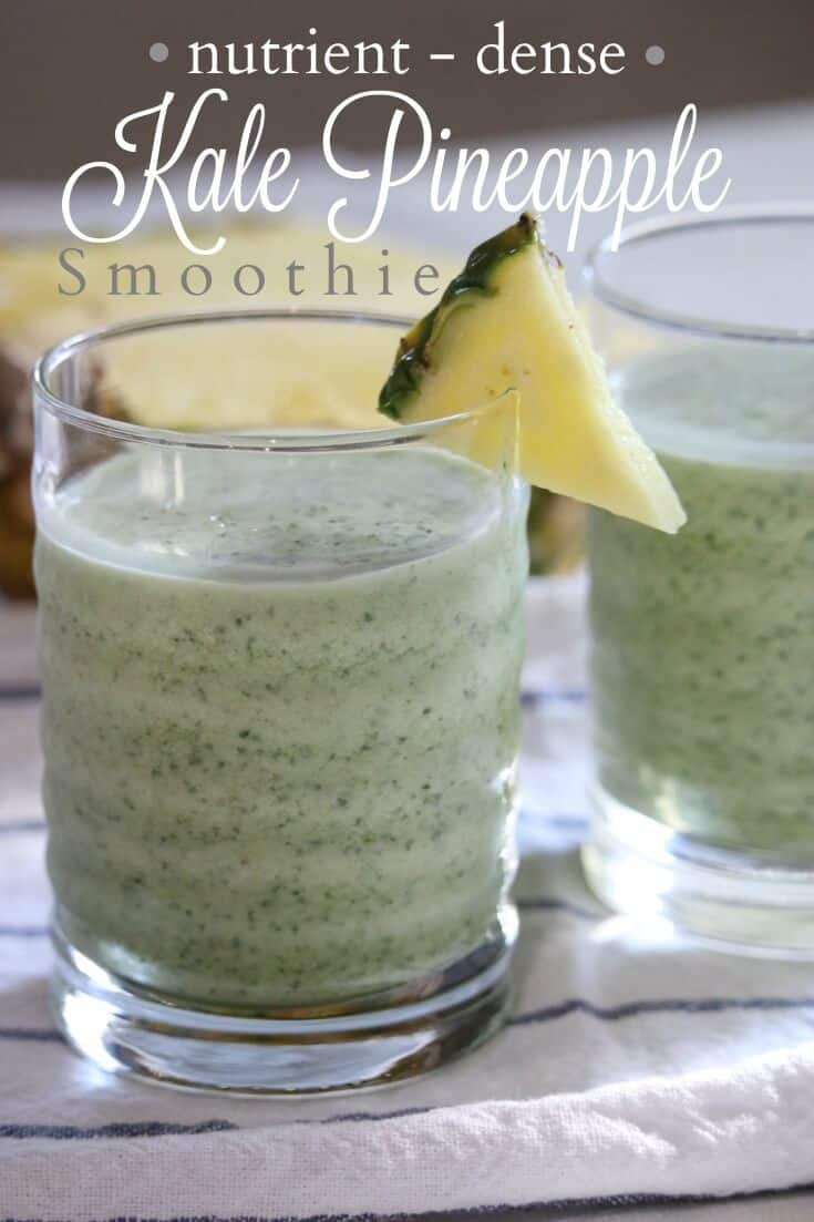 Need an afternoon pick-me-up? Gain the most benefit from kale by cooking it first, then freezing it to blend into this easy kale pineapple smoothie recipe.