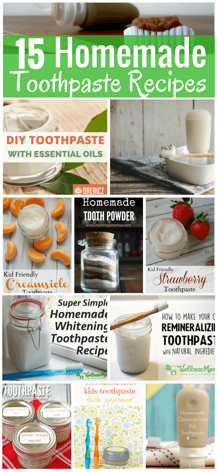 Whether you're looking to whiten teeth without harsh bleach, needing a new flavor, or wanting to help ease a cavity, we've got a homemade toothpaste recipe for you. Check out these options below for DIY toothpaste recipes that fit every taste, budget, and allergy.