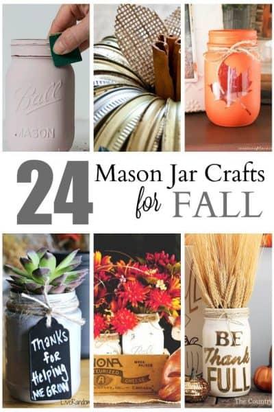 24 Cute Mason Jar Crafts for Fall