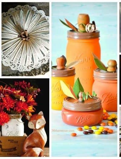 24 Mason Jar Crafts for Fall