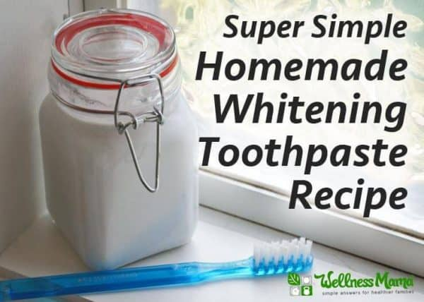 Simple Homemade Whitening Toothpaste from Wellness Mama
