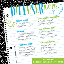 6 A+ Back to School Diffuser Blends