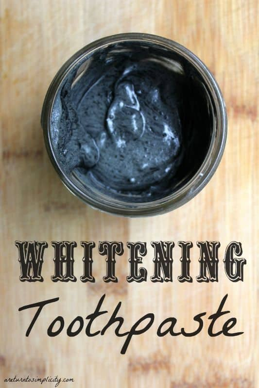 Black toothpaste that whitens your teeth? Yup. Ditch the harsh chemicals and give this a try! | 15 Homemade Toothpaste Recipes