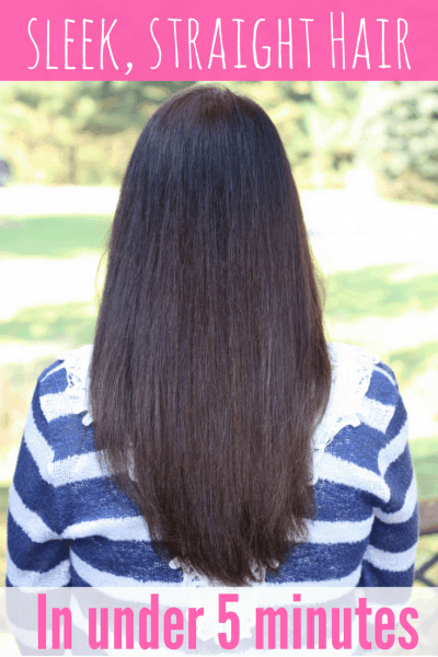 Go From Curly to Straight in Under 5 Minutes!