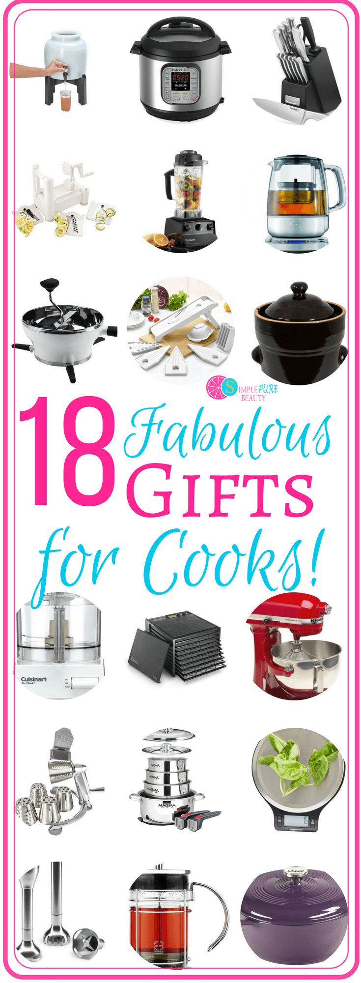 Need some gift ideas for the cook in your family? Look no further! Check out these fabulous gifts that will save your cook tons of time and energy in the kitchen!