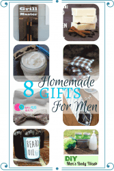 Be the star of the holiday season with these homemade gifts for men. Whether an expert at DIY or new to the scene, here are some quick and easy gift ideas.