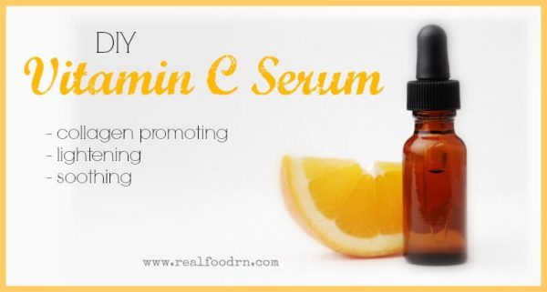 This DIY Vitamin C Serum adds the benefits of aloe vera in as well.