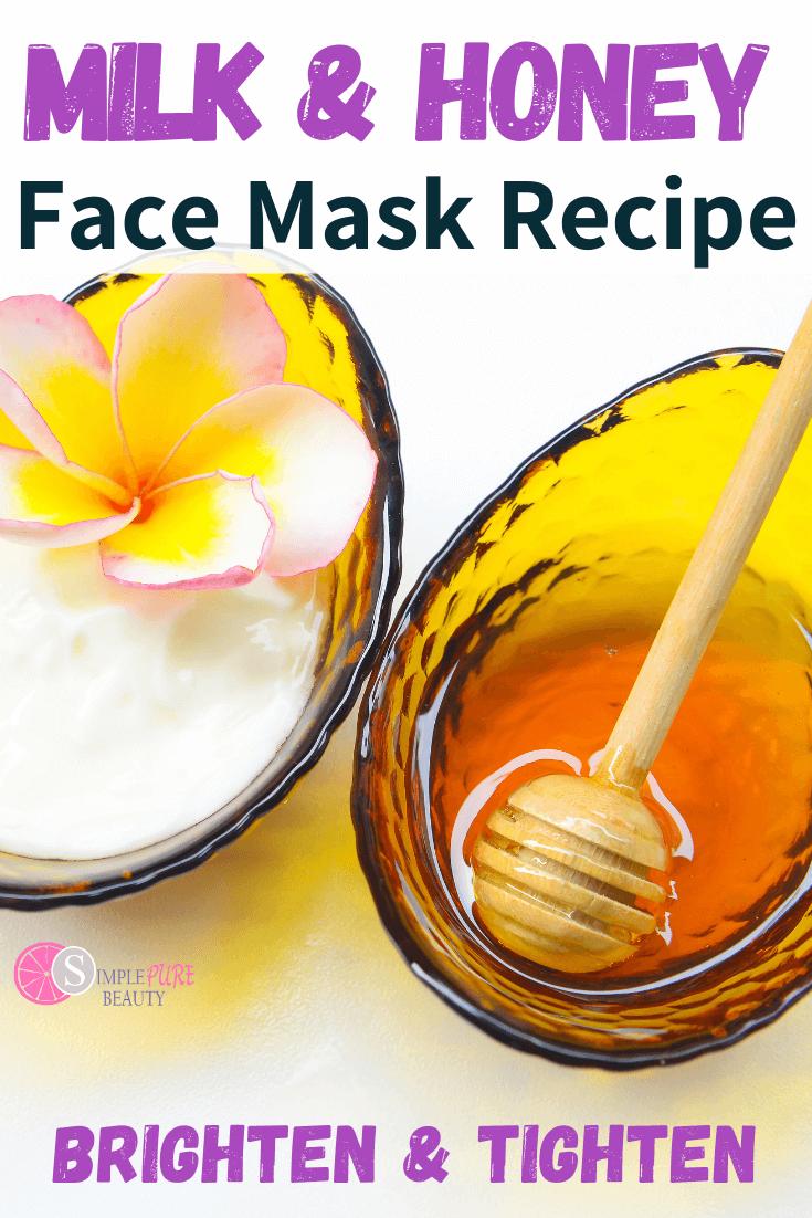 Milk and Honey Homemade Face Mask for Dry, Sensitive Skin