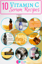 Vitamin C is a powerful antioxidant and amazing in anti-aging recipes! I've gathered the best DIY vitamin C serums, Lotions & Mask Recipes so you can whip up your own anti-aging creations!