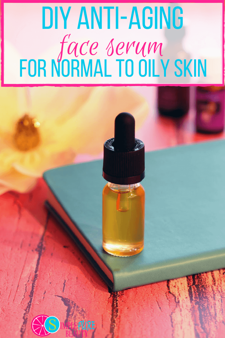 This DIY Face Serum is specially formulated for normal to oily skin and can be whipped up in less than 5 minutes! #diy #serum #skincare #antiaging #homemade #tutorial