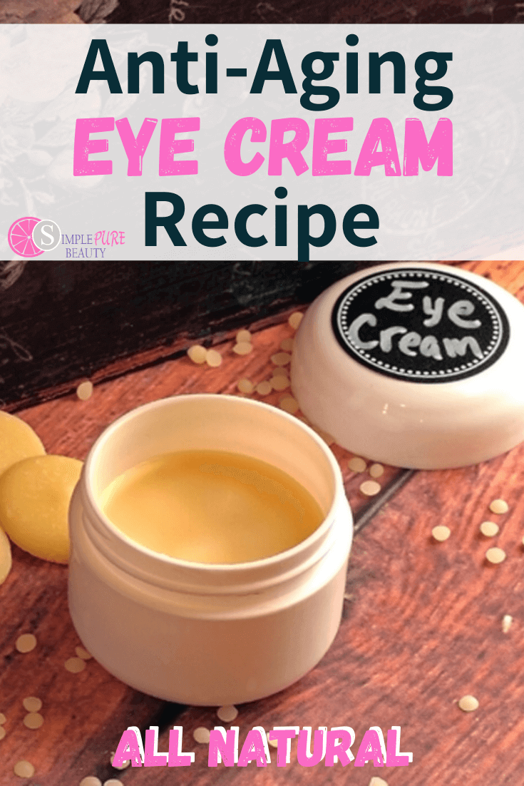 Jar of diy eye cream