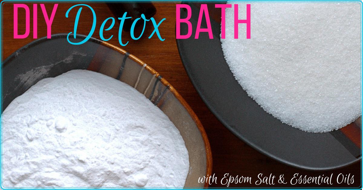 Diy Epsom Salt Amp Baking Soda Detox Bath With Essential Oils