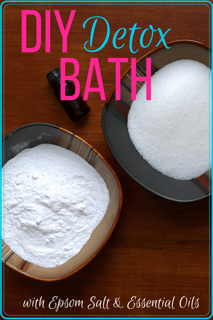 DIY detox bath... not only relaxing, a long soak can be so healthy for your body. Try out an all-natural detox with some simple ingredients you likely already have! #detox #bathsoak #bath #diy #homemade #essentialoils