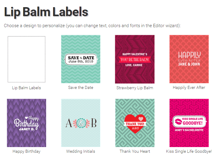 StickerYou Lib Balm Labels