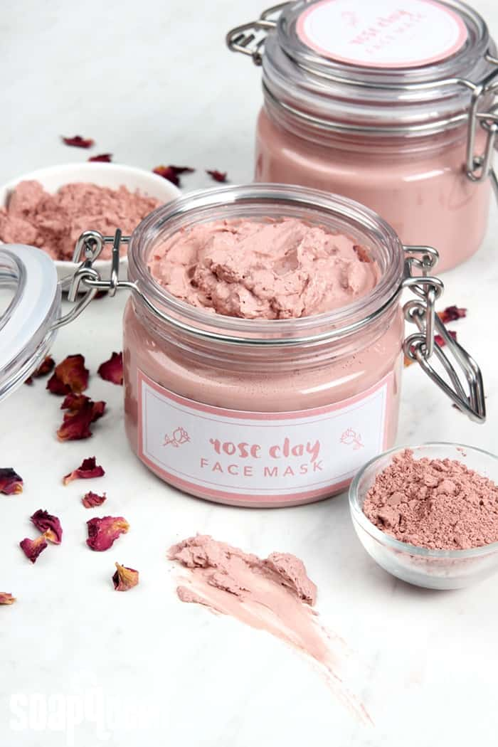 This rose clay face mask is made form luxurious ingredients like rosehip seed oil and rose absolute.